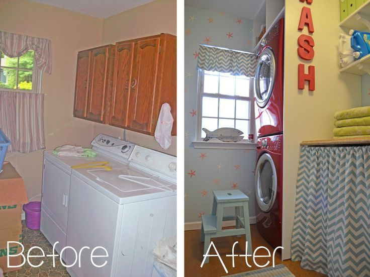 DIY Laundry Room Makeover- Before and After
