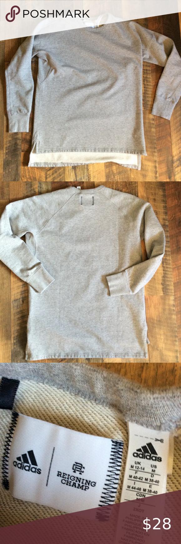 Adidas Reigning Champ Sweatshirt M Reigning Champ Grey Adidas Hoodie Adidas Zip Up Hoodie [ 1740 x 580 Pixel ]