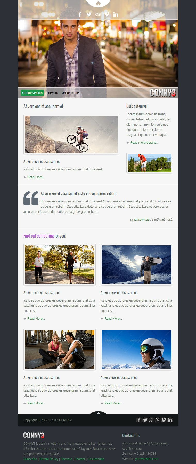 CONNY3 Responsive Email With Template Builder