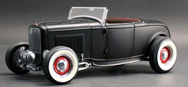 GMP 1932 Ford Roadster Satin Black diecast car