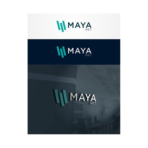 Maya Design A Modern High Tech Logo For Maya We Need A Clean Modern Logo For A Tech Company That Provides Cloud Co Maya Design Creative Logo Geometric Logo