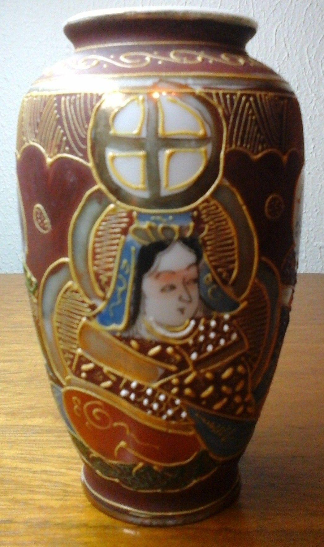 Vaso em porcelana japonesa satsuma mil caras pintado mo com vaso em porcelana japonesa satsuma mil caras pintado mo com detalhes em ouro made in reviewsmspy