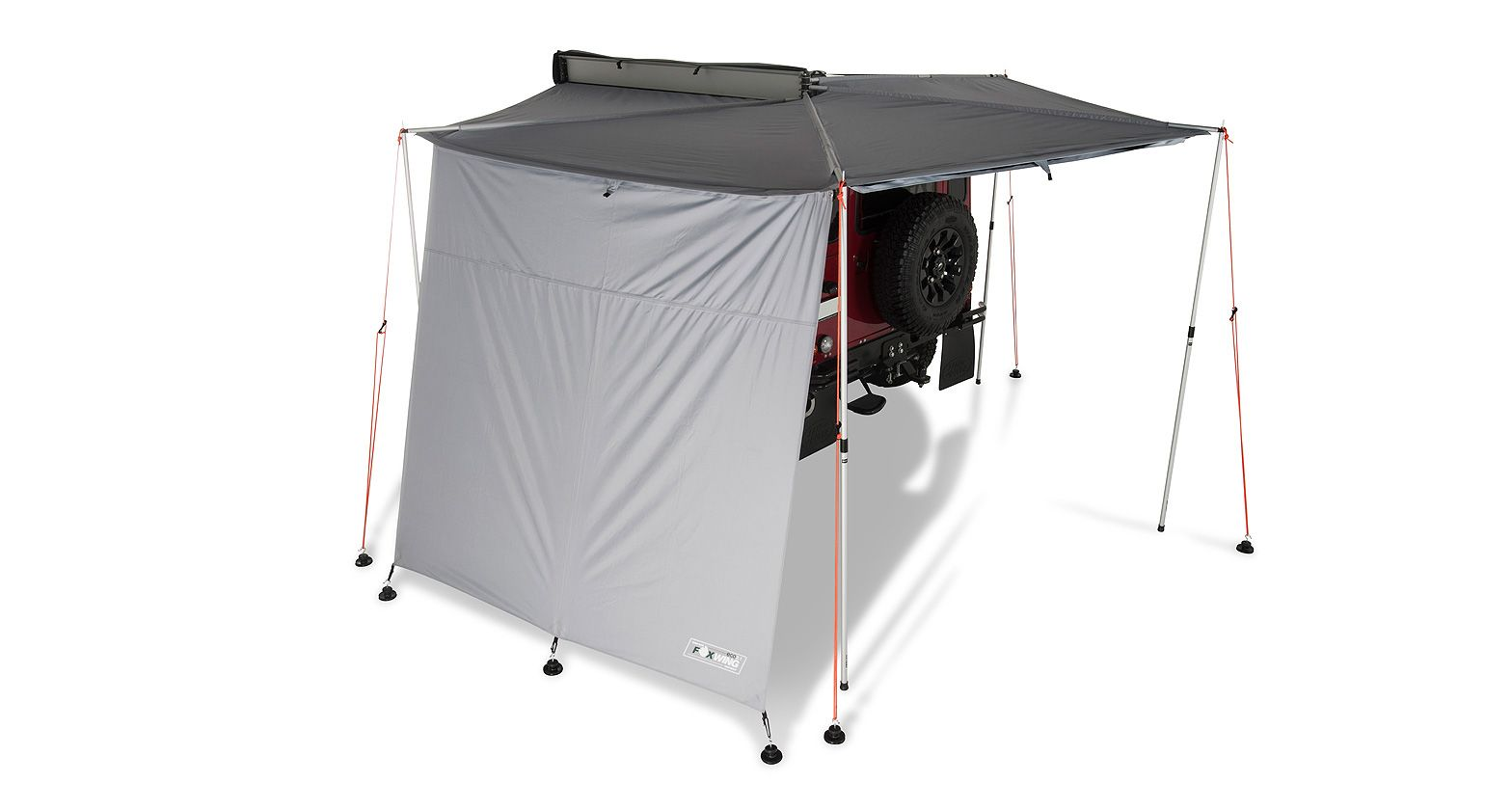 31118 Foxwing Awning Extension Rhino Rack Side Wall Awning Teardrop Camper