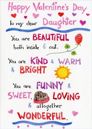 Happy Valentines Day To My Daughter Quotes Images 2017 Daughters