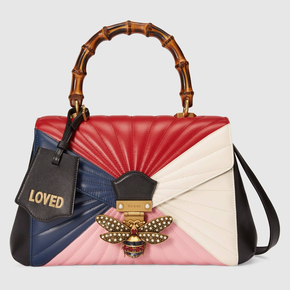 gucci queen margaret. queen margaret quilted leather top handle bag - multicolor by gucci g