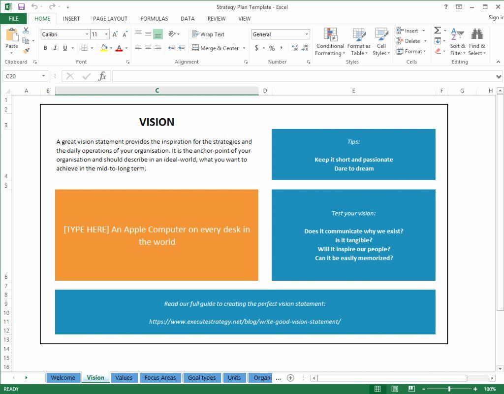 Unique Strategic Planning Template Free in 2020