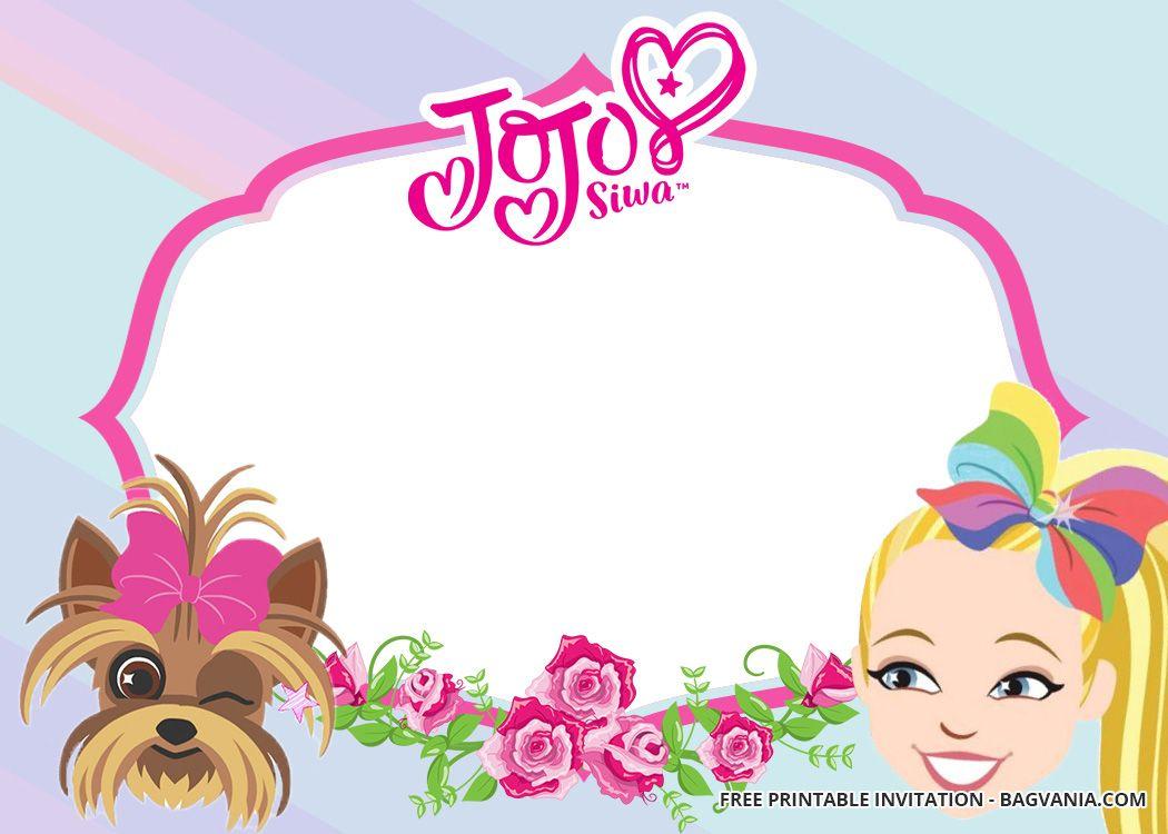 Free Jojo Siwa Birthday Invitation Templates Jojo Siwa Birthday Birthday Invitation Templates Free Printable Birthday Invitations