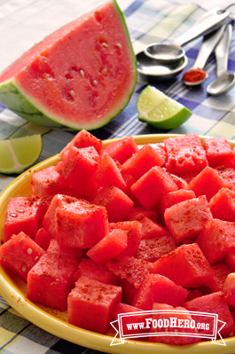 Watermelon with Lime and Chili Powder