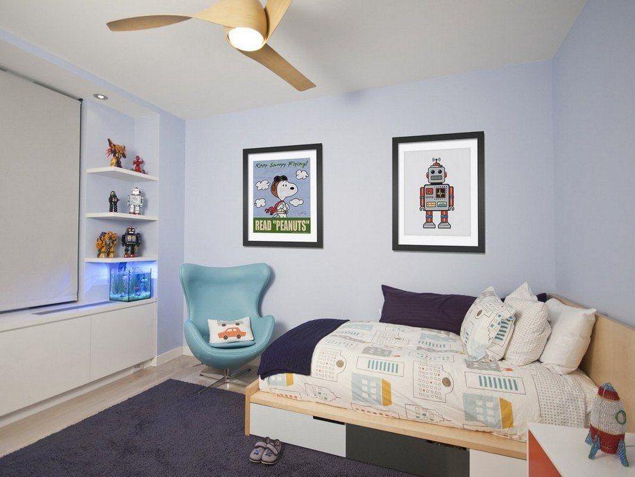 Simple boys bedroom