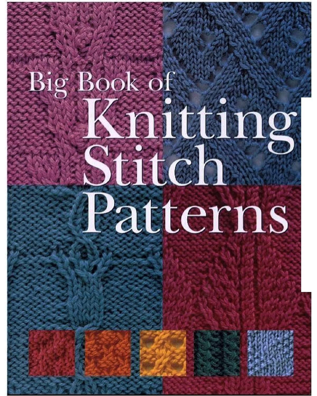 Book Cover Knitting Pattern ~ Big book of knitting stitch patterns free dl örnek defteri