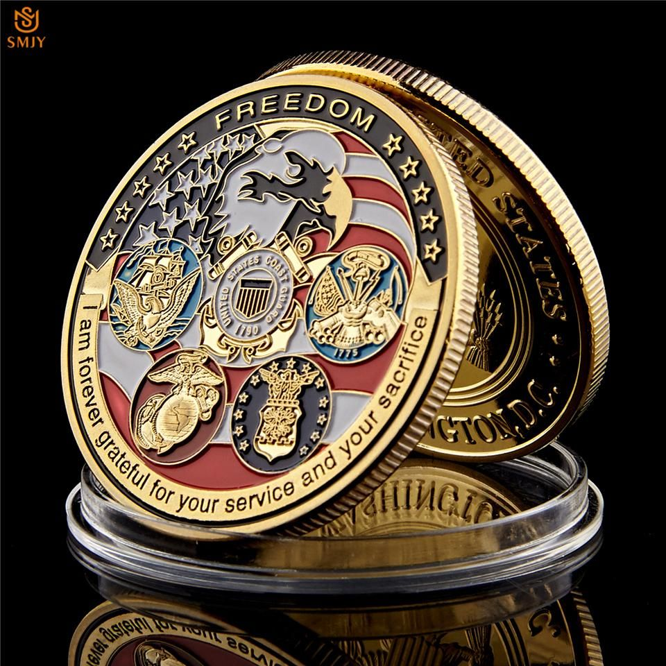 Freedom Challenge Coin I Am Forever Grateful for Your