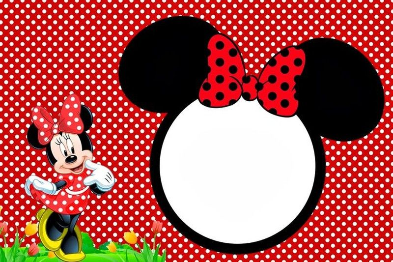 Free Minnie Mouse Party Invitation Template – Free Printable Party Invitations Online Templates