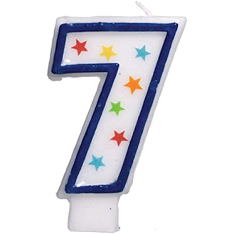 Amscan star studded flat molded number 7 celebration