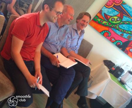 De jury zit klaar voor de presentaties van de Aegon blend 2015!