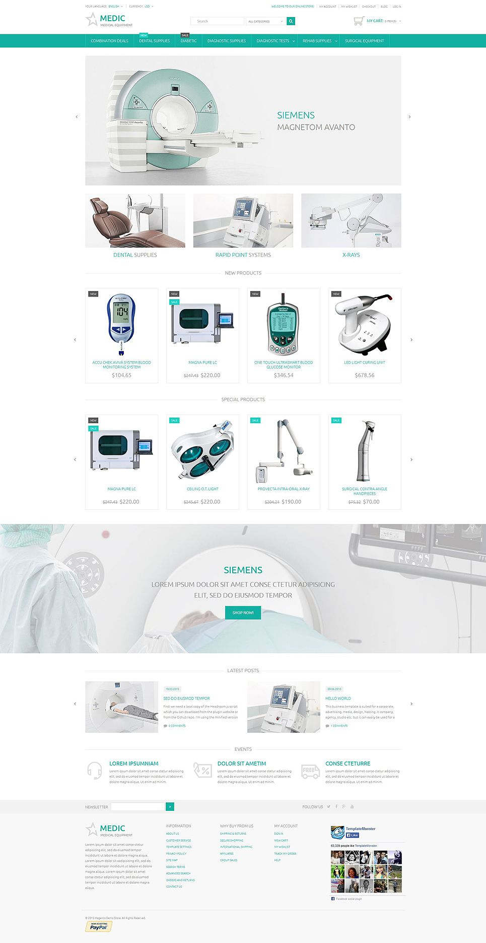 Medical equipment magento theme httptemplatemonster medical equipment magento theme a perfect solution for any store related to medicine maxwellsz