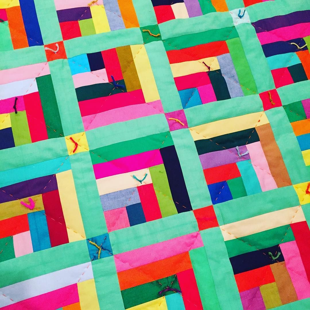 #handquilted and #handtied...