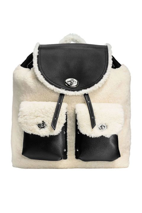 10 must-have winter fashion accessories for cold weather: a shearling backpack