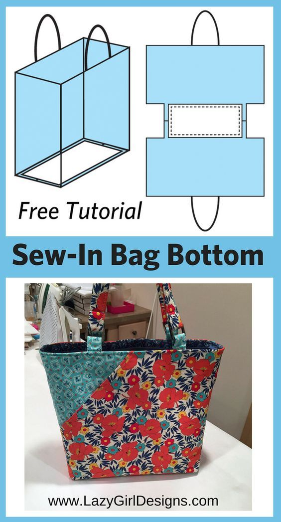 Free Tutorial: Easy Sew-In Support for Bag Bottoms (Lazy Girl Designs) -   22 sewing crafts gifts