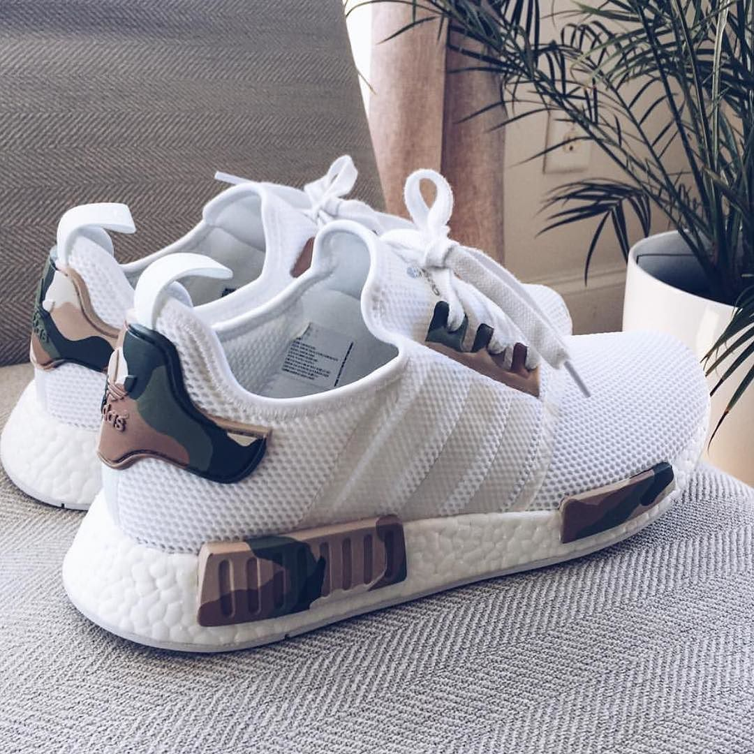 customize adidas shoes nmd r2 white /beige 605946
