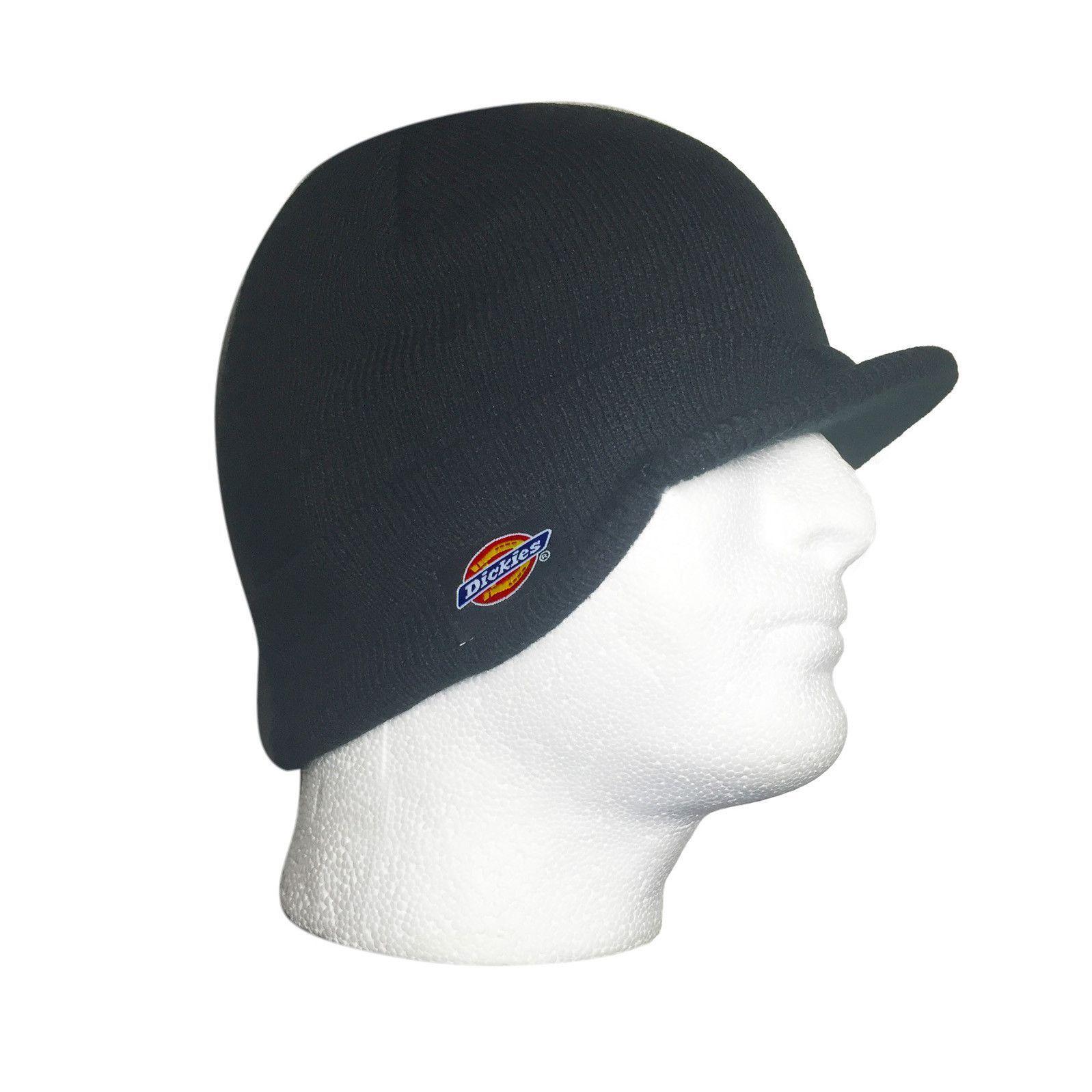 Dickies Billed Mens Double Knit Beanie Skull Cap Radar Hat Black One Size  UNISEX 456ef8d2bf2