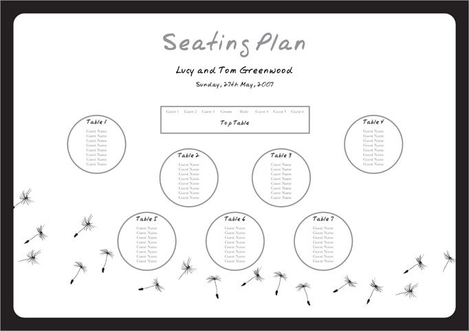 Wedding Table Plan Seating Plan Wedding Table Plan Seating Plan Template Seating Chart Template