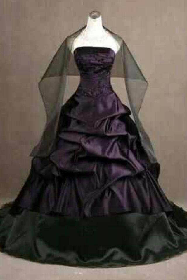 Purple Black Plus Size Wedding Dress From Curvy Brides