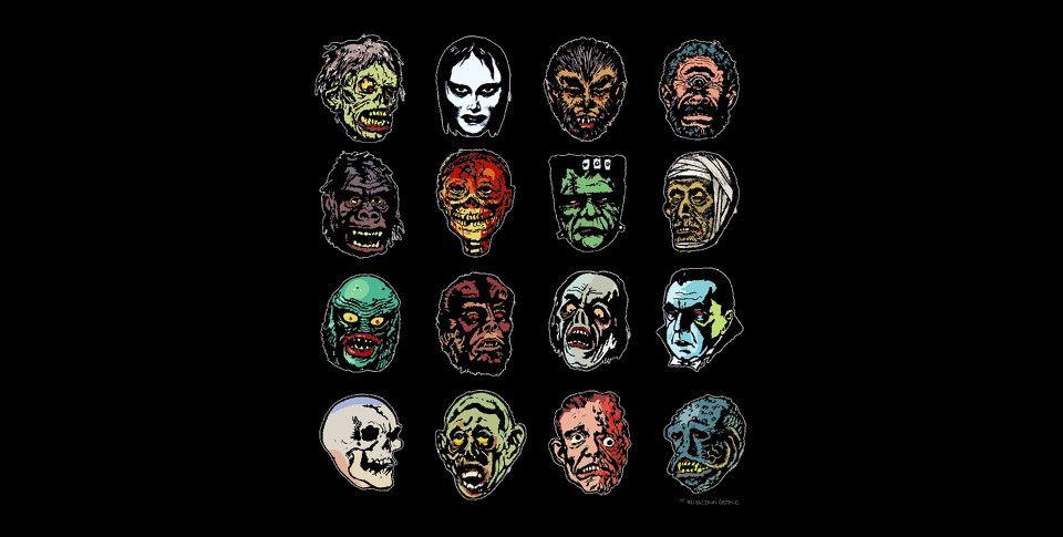 Horror Movie Monster Masks   Monster mask, Horror, Horror tees