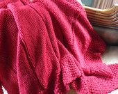 The Federal       Heirloom Blanket, 100% Peruvian Wool, Chunky, Warm, Soft, Lovely pattern, Hand made in Vermont