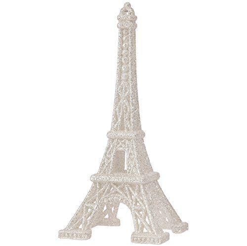 RAZ Imports \u2013 6 Inch Eiffel Tower Figurine Christmas Tree Ornament