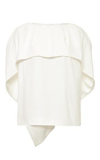Off-White Cape Top by Antonio Berardi Now Available on Moda Operandi