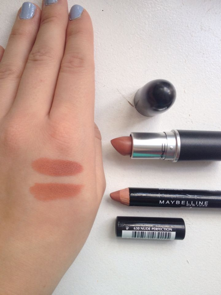 It's A Dupe! Macs Velvet Teddy Lipstick & Maybellines Nude