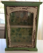 wall cabinet antique vintage distressed shabby chic style