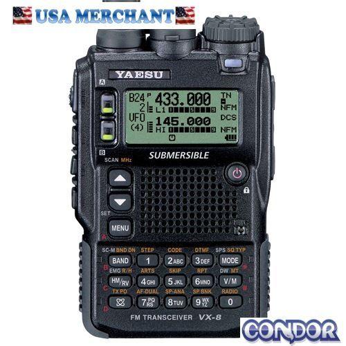 Yaesu vx-8dr handheld ham radio quad-band submersible 6m/2m