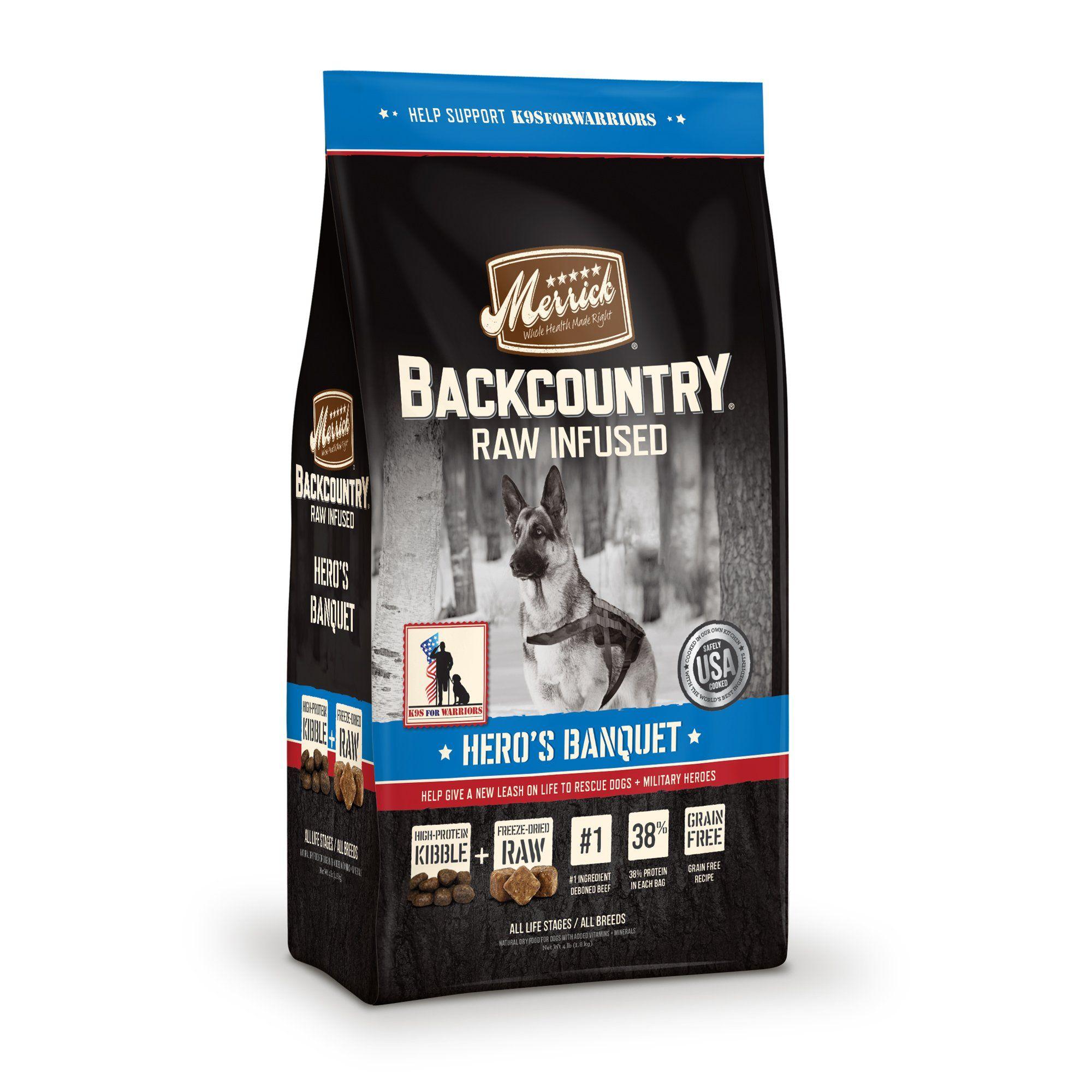 Merrick Backcountry Grain Free Hero S Banquet Dry Dog Food 22 Lbs