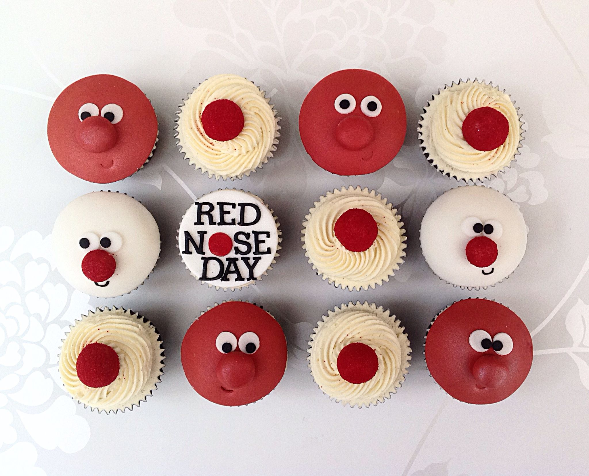 Red Nose Cupcakes For Comic Relief With Images Comic Relief
