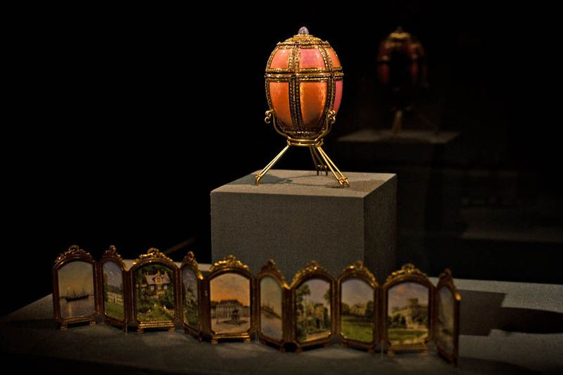 """Description Faberge Egg """"Danish palaces"""" Source New Orleans Museum of Art Time to create 1890 Author or copyright holder Faberge"""