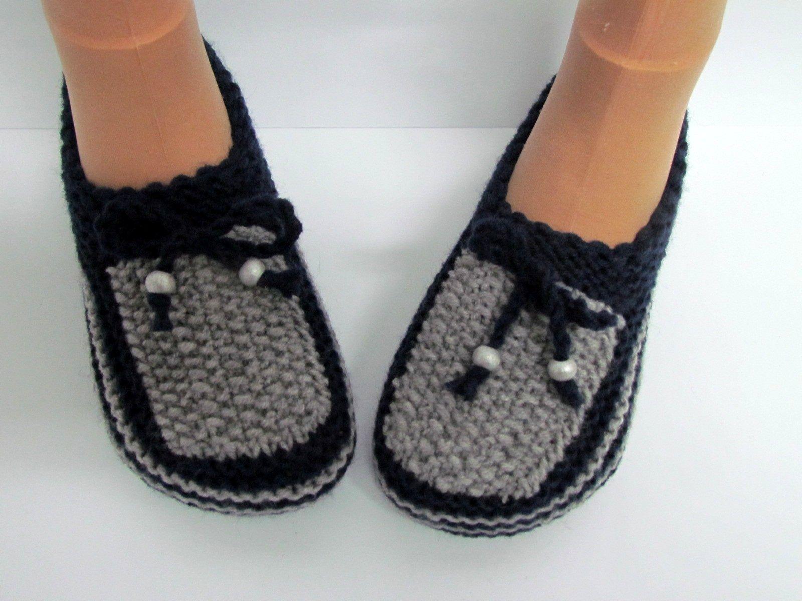 patron tricot pantoufle gratuit