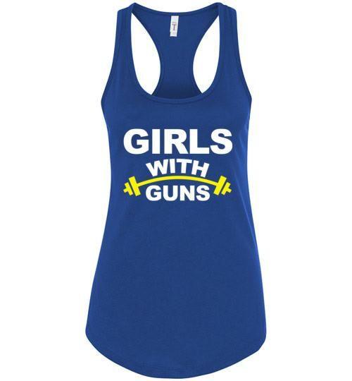 Girls With Guns Ladies Racerback T-Shirt