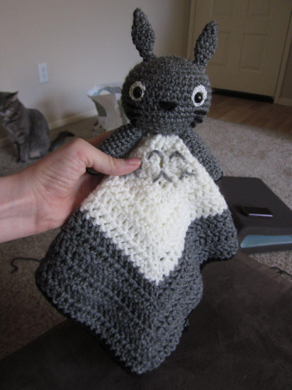 Totoro Lovey Crochet Pattern Download | Ropita de bebe, Manta y Bebe