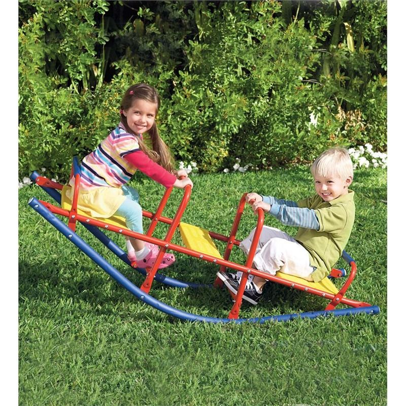 Durable Weather Resistant Metal Rocking Seesaw | Outdoor Play Toys