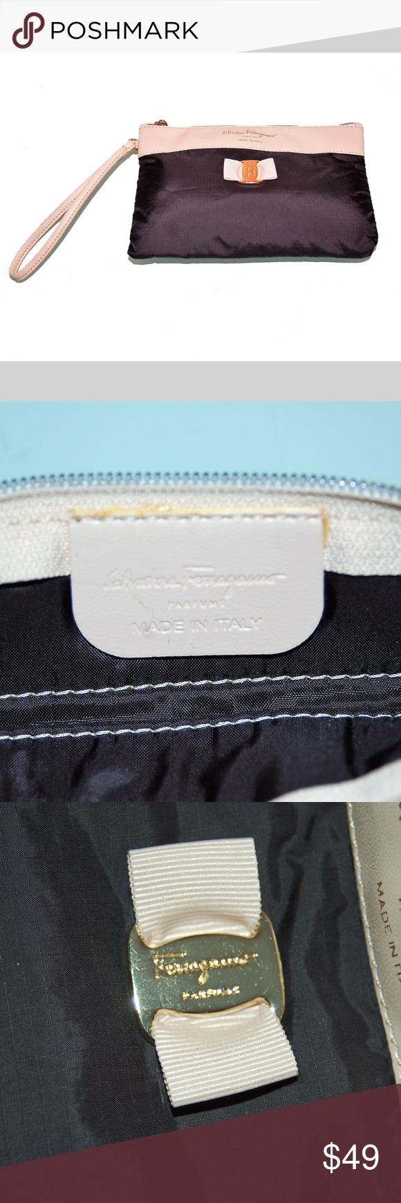 SALVATORE FERRAGAMO Parfums Wristlet Bag UNWORN Too cute! Use this Made in  Italy Ferragamo Vera 7f9cfc1be64d2