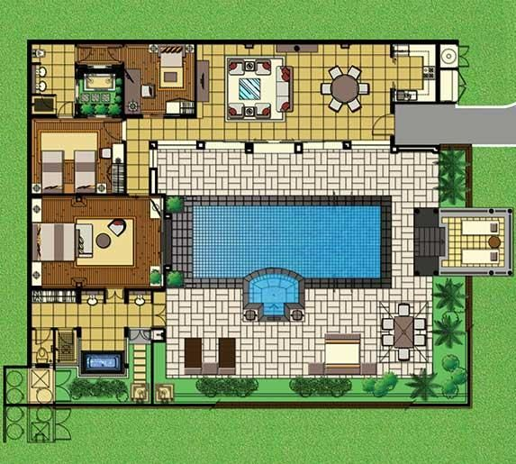 Villa Site Plan Design: Pin By Roberto Portolese On Bedroom Areas