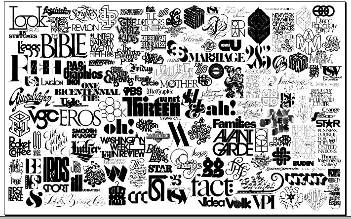 Logos designed by Lubalin Inc. over the years | A collage of ...