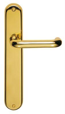 Show details for Iris Long Plate Door Handles On Backplate ...