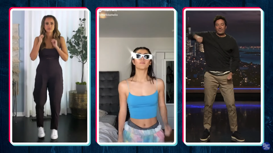 Jimmy Fallon And Jessica Alba Hilariously Fail What May Be The Final Tiktok Dance Challenge Jimmy Fallon Jessica Alba Fallon