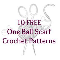 10 FREE One Ball Scarf Crochet Patterns