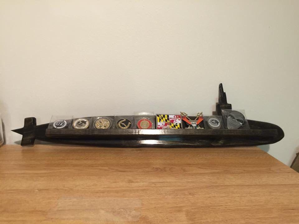 Us Navy Submarine Challenge Coin Rack Military Challenge