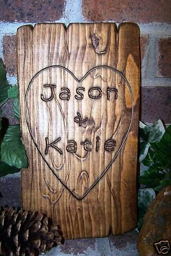Personalized Couples Name Signs Carved Custom Wooden Sign Last Name