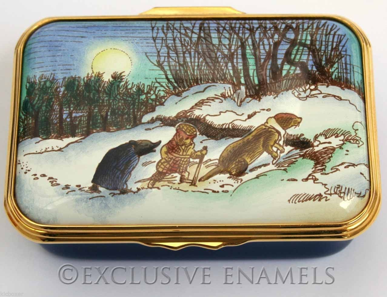 Wind in the willows ornaments - Halcyon Days Enamels Wind In The Willows Made Swiftly For Home Le Enamel Box