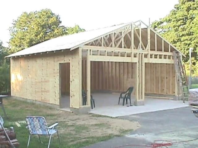 How To Build Your Own 24 X 24 Garage And Save Money Step By Step Build Instructions Practical Survivalist Building A Garage Garage Design Garage Plans